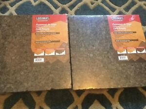 Two packages of cork tiles