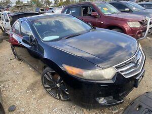 Wrecking 2008 Honda Accord euro sedan black bz