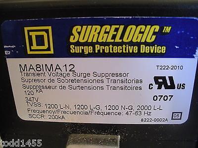 Square D Ma8ima12 Surgelogic Transient Voltage Surge Protector Suppressor 347v
