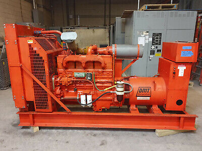 150kw Cummins Nt-855 G2 480v277v Turbo Diesel Generator 125kw Load Tested Kmg