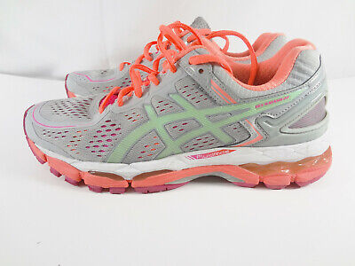 ASICS GEL-Kayano 22 T597N Silver Grey/Pistachio//Fiery Coral Womens Size 8.5 M