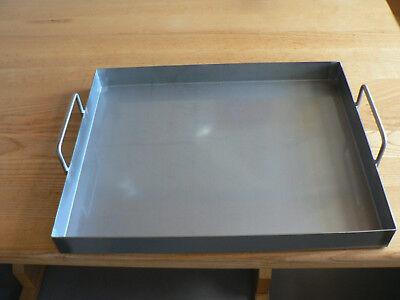Edelstahl V2a-Grillwanne Spanferkelwanne Auffangwanne 400mm x 600mm x 80mm x 4mm