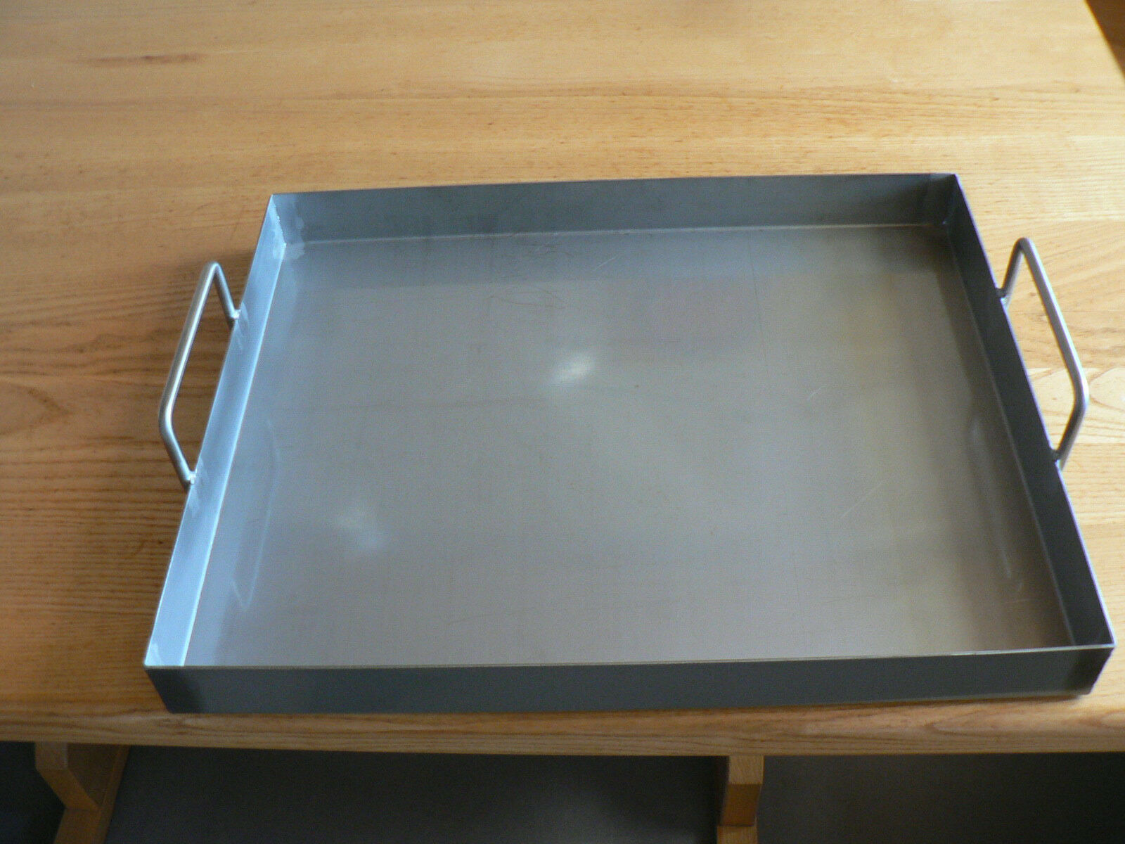 Edelstahl V2a-Grillwanne Spanferkelwanne Auffangwanne 400mm x 600mm x 50mm x 2mm