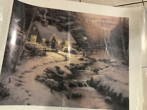 "Thomas Kinkade ""Christmas Cottage X"" 20x24"