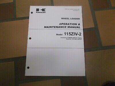 Kawasaki 115ziv-2 Wheel Loader Owner Operator User Guide Maintenance Manual