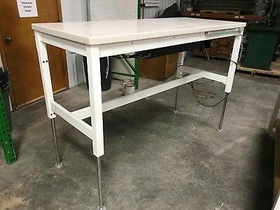 Rdm Industrial Productsadjustable Height 1500 Lb. Capacity Lift Table 9389