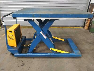 Vestil Pst-3660-2-48 Portable Scissor Lift Table 36x60x 44-12 2000lb 120v