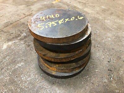 5.75 Dia X 0.6 Long 4140 Steel Round Rod