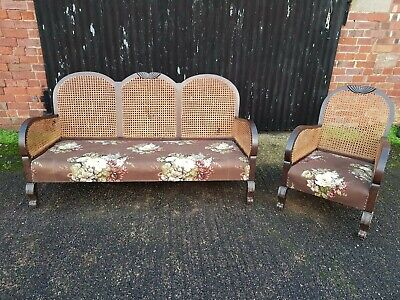 Antique Bergere Suite And Chair Used