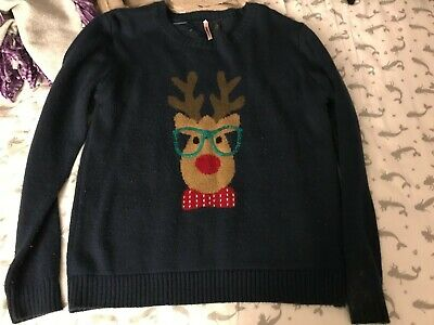 nerdy reindeer Christmas sweater ()