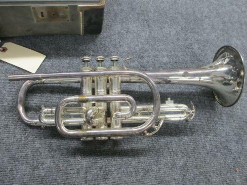 Rare Vox Silver Cornet for Repair or Parts!