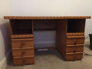 Timber desk and office chair Bull Creek Melville Area Preview