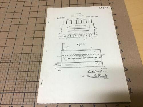 early printed PATENT apr 6, 1920 - f e wellman LIQUID HEATING FURNACE 1335774