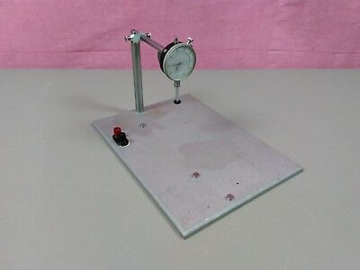 """Dial Indicator 1"""" Test Stand Aluminum Plate Electrical Hookups Machinist 999-380"""