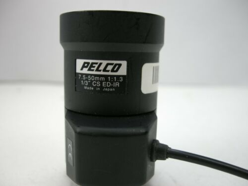 "PELCO 7.5 - 50mm 1:1.3 1/3"" CS ED-IR Camera Lens (USED)ALT"