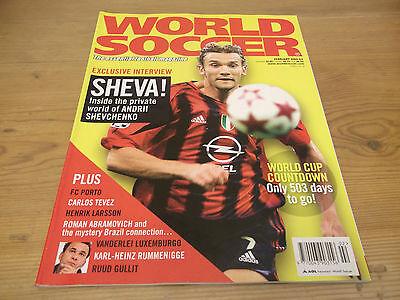 Football Magazine World Soccer February 2005 Sheva FC Porto Tevez Gullit Larsson
