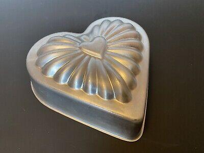 "Vintage Jello / Cake Mold Pan Aluminum 6"" Excellent Condition"
