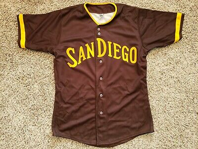 Authentic Sz 48 San Diego Padres 1972-73 Throwback BROWN Baseball Jersey DIY