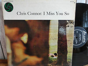 Chris Connor I Miss You So LP Atlantic 8014 MONO Black Label Original 1958