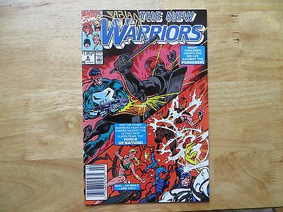 1991 MARVEL THE NEW WARRIORS # 8 PUNISHER SIGNED FABIAN NICIEZA, WITH POA