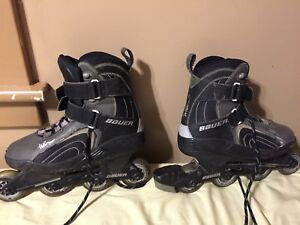 Used size 9.5 Bauer roller blades - great for a beginner!