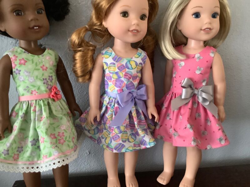 """3 Dresses for Wellie Wisher  14""""Doll--A102"""