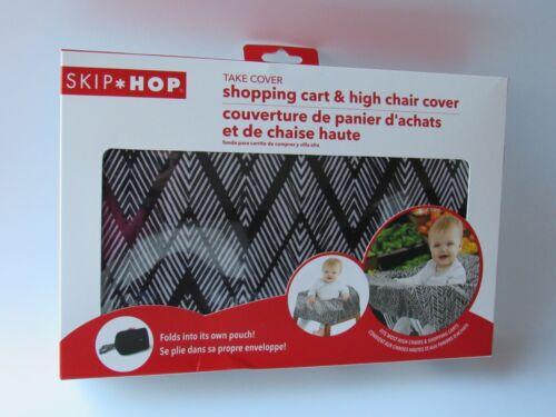 SKIP HOP Shopping Cart High Chair Cover w/ Pouch Black & White NEW IN BOX