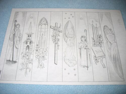 * TRI CHEM 7496 RELIGIOUS BOOKMARKS CROSS CHURCH BIBLE Picture to paint TRICHEM