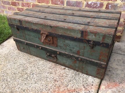Antique shipping trunk, treasure chest Kewdale Belmont Area Preview