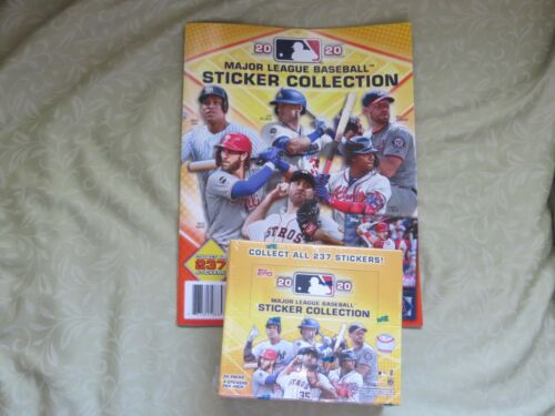 2020 Topps Mlb Sticker Collection  Sealed Box. 50 Packs With Album Free S & H
