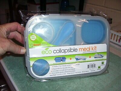 NEW Smart Planet Collapsible Eco Meal Kit, Large , Blue, Food Storage