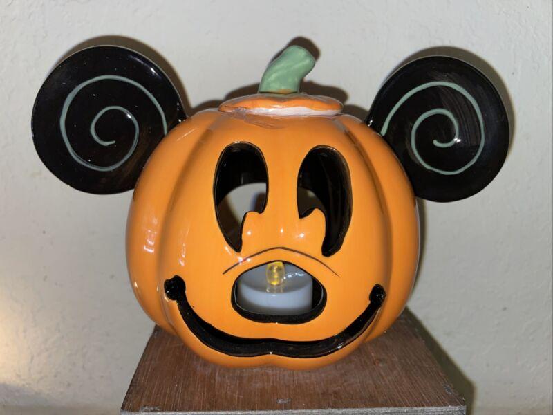 NWT Disney Halloween 2019 Mickey Pumpkin Happy Halloween Votive Candle Holder Lb