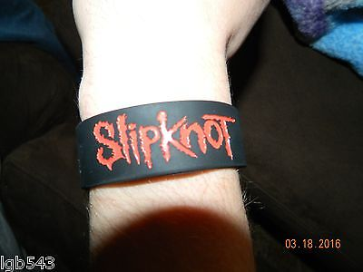 New- SLIPKNOT Black with Red Rubber Bracelet