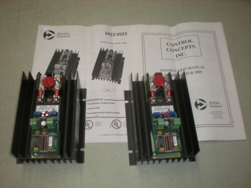 Lot of (2) Control Concepts 1025-12-10-4/20MA SCR Power Controllers - NOS - NNB