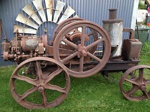 Vintage Stationary Engine Austral Oil Engine 6hp portable Allansford Warrnambool City Preview