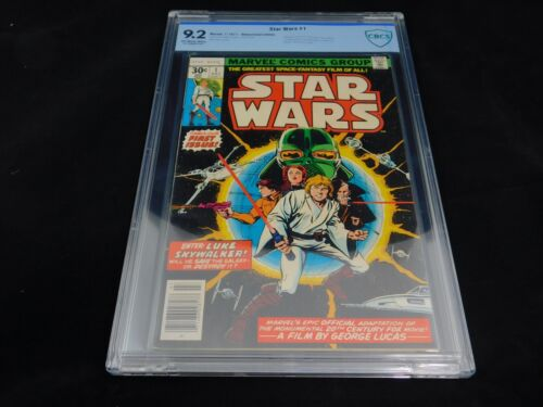 Star Wars #1 CBCS 9.2 (Marvel 1977) 1st Print Off-White to White Pages Luke Leia
