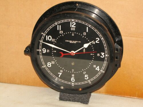 CHELSEA U.S.AIR FORCE CLOCK~8 1/2 IN~CIRCA 1954~12/24 hr.DIAL~ NEAR MINT~