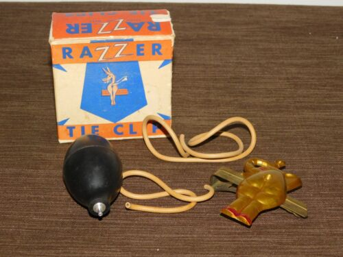 VINTAGE REPUBLICAN ELEPHANT NOVELTY GAG FUNNY RAZZER TIE CLIP *NOT WORKING*