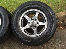 "4 x 4x4 16"" alloy CSA rims with 245/70r16 AT tyres with 30% tread Bayview Pittwater Area Preview"