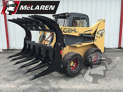 Root Grapple Attachment Bucket For Bobcat Skid Steer 86 Wide Heavy Duty