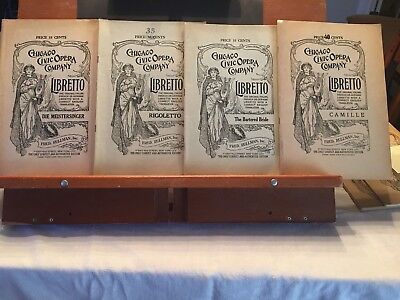 Lot (6) Vintage Chicago Civic Opera Libretto's 1922-1930