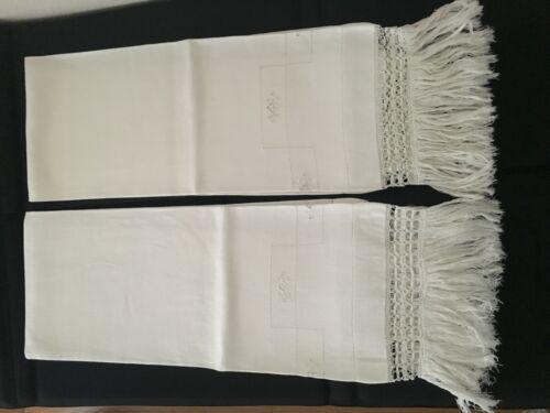 Antique Italian fine linen towels