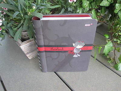 NICI Notebook NEU Muster Schwarz Teufel Büro Schule Organisation DINA6 Notizbuch