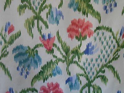 "Brunschwig & Fils Fabric ""MARLY"" 6.25 yards!  Ikat Floral"