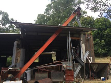 Macadamia Nut Processing equipment Receival Bin Elevator Silo