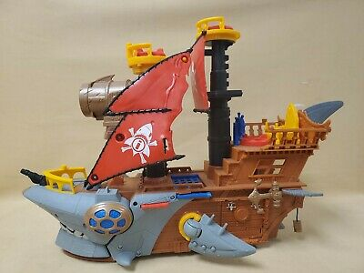 Fisher-Price Imaginext Shark Bite Pirate Ship Playset Vehicle
