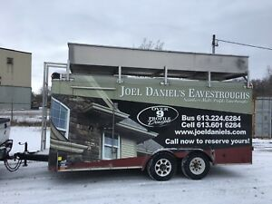 8x16 enclosed trailer with catwalk and roof storage
