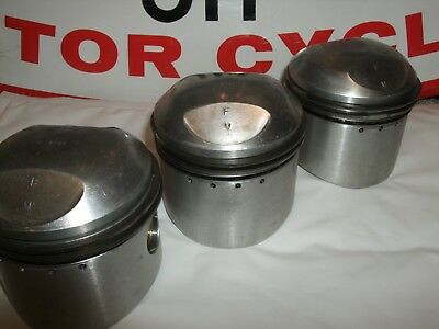 TRIUMPH T150 T160 R3 REAL HEPOLITE PISTONS SET LOW COMP USED STD