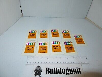 Game Of Life Card Games - 1991 Game of Life Board Game Replacement Lot of 9 House Deed Card Piece Milton