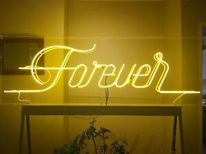 "Large Yellow Neon Sign ""Forever"" Camperdown Inner Sydney Preview"